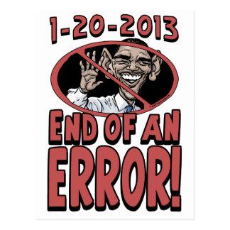 Extremo de un engranaje de Anti-Obama del error Postal