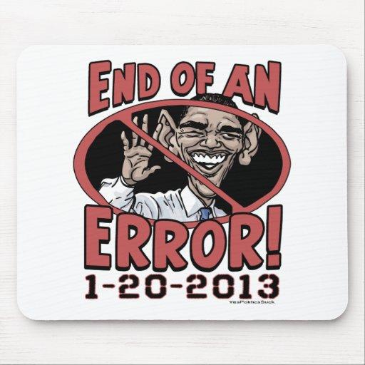 Extremo de un engranaje de Anti-Obama del error Tapete De Ratón