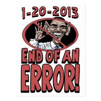 Extremo de un engranaje de Anti-Obama del error Tarjeta Postal
