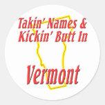 Extremo de Vermont - de Kickin Pegatinas Redondas
