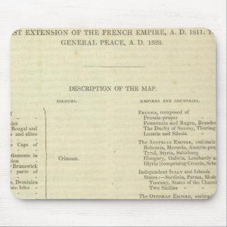 Extremo Del ANUNCIO general 1828 de la paz Mouse Pads