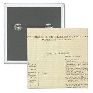 Extremo Del ANUNCIO general 1828 de la paz Pin Cuadrada 5 Cm