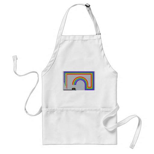 Extremo del arco iris delantal