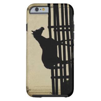 Extremo del caso de la granja del caballo del caso funda de iPhone 6 tough