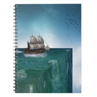 Extremo del cuaderno del mundo
