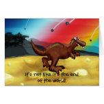 Extremo del dinosaurio del mundo felicitacion