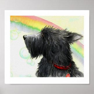 Extremo del escocés del arco iris póster
