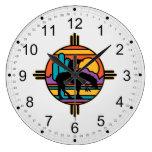 Extremo del indio del nativo americano del rastro reloj redondo grande