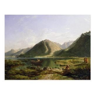 Extremo del lago Lemán, 1835 (aceite en lona) Tarjetas Postales