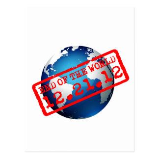 Extremo del mundo - 12.21.12 tarjetas postales