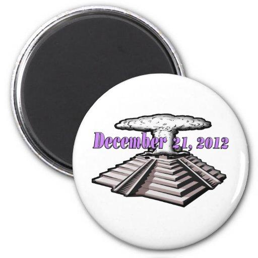 Extremo del mundo - 21 de diciembre de 2012 iman de nevera