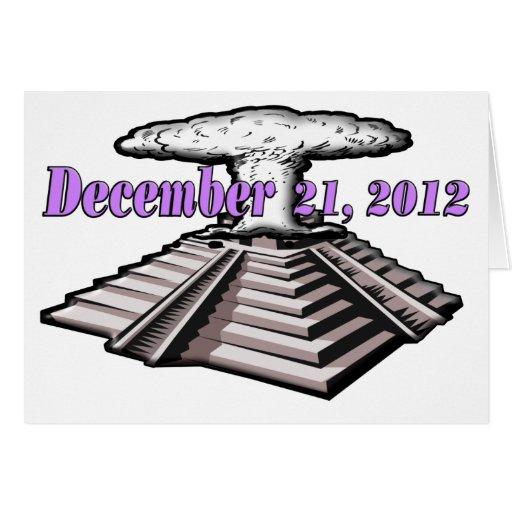 Extremo del mundo - 21 de diciembre de 2012 tarjeta de felicitación