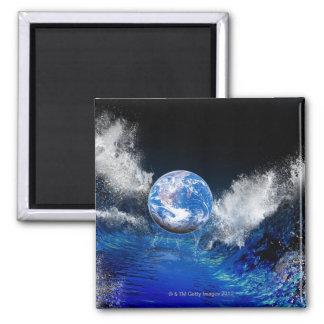 Extremo del mundo, ilustraciones conceptuales del  imán para frigorifico