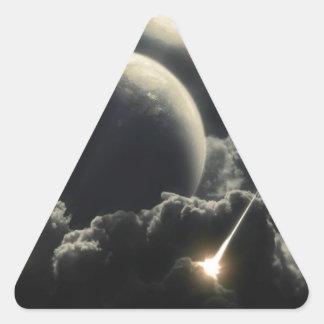 Extremo del mundo, meteorito del impacto pegatina triangular