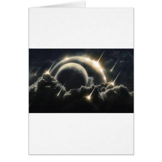 Extremo del mundo, meteorito del impacto tarjeta de felicitación