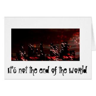 Extremo del mundo (saludos de la agencia) tarjeta de felicitación