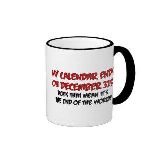 Extremo del mundo tazas de café