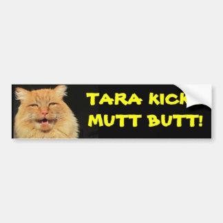 Extremo del Mutt de los retrocesos del gato de Pegatina Para Auto