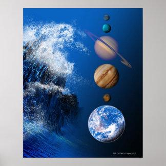 Extremo del ordenador conceptual del mundo en 2012 póster