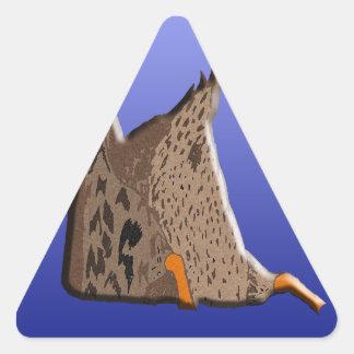 Extremo del pato pegatina triangular