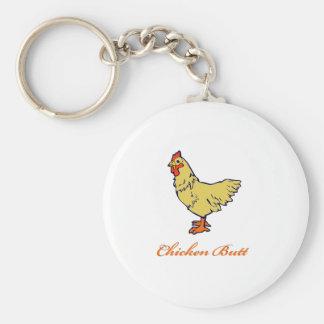 Extremo del pollo llavero redondo tipo pin