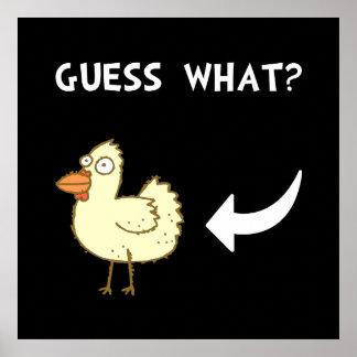 Extremo del pollo póster