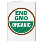 Extremo GMO orgánico Tarjetón