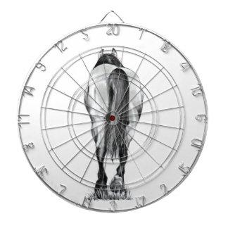 Extremo posterior del caballo Dibujo de lápiz ori Tablero Dardos