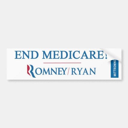 ¡EXTREMO SEGURO DE ENFERMEDAD! Romney/Ryan Bumpers Pegatina Para Auto