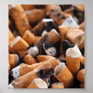 Extremos de cigarrillo póster