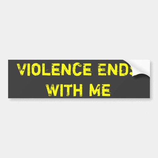Extremos de la violencia conmigo pegatina para auto