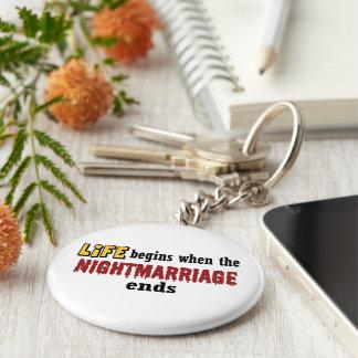 Extremos de Nightmarriage Llavero Redondo Tipo Pin