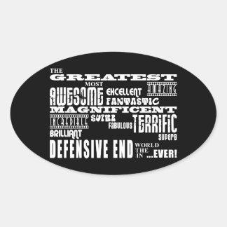 Extremos defensivos del fútbol: El extremo Calcomanía Óval Personalizadas