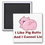 Extremos del cerdo imán de frigorífico