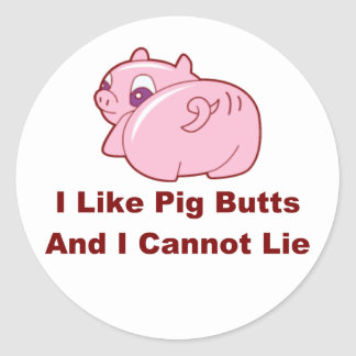 Extremos del cerdo etiquetas redondas