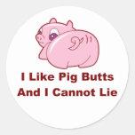 Extremos del cerdo pegatina redonda
