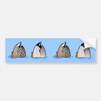 Extremos del pato etiqueta de parachoque