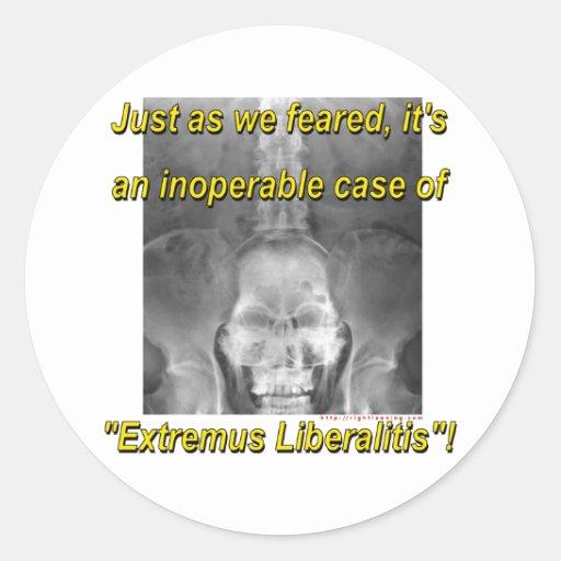 Extremus Liberalitis Pegatina Redonda
