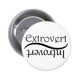 Extroverso-Introvertido Pin Redondo De 2 Pulgadas