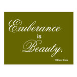 Exuberance is Beauty - inspiration in a PostCard