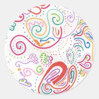 Exuberant Classic Round Sticker