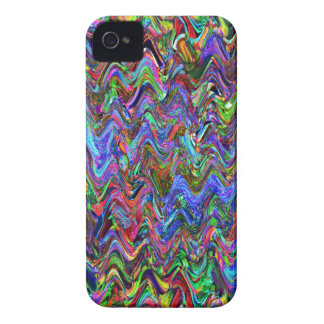 Exuberant Color Zigzag Abstract iPhone 4 Cases