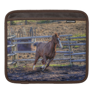 Exuberant Energetic Chestnut Horse Equine Photo Sleeve For iPads