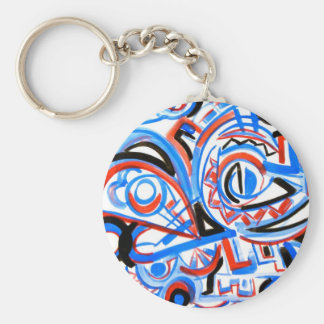 Exuberant Singing - Abstract Art Keychain