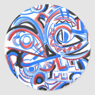 Exuberant Singing - Abstract Art Stickers