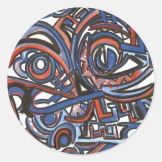 Exuberant Singing- Modern Art Watercolor Classic Round Sticker