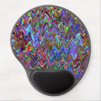 Exuberant Zigzag Artist Colors Gel Mouse Pad