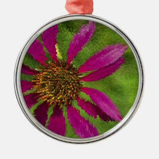 Exuded Coneflower Daisy Flower Metal Ornament