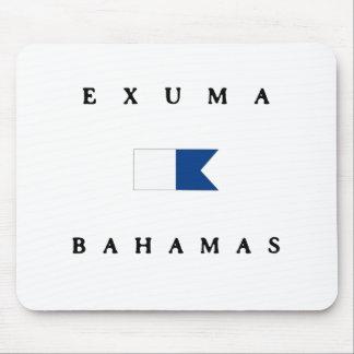 Exuma Bahamas Alpha Dive Flag Mouse Pad