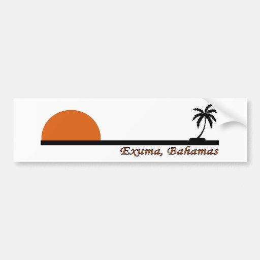 Exuma, Bahamas Etiqueta De Parachoque
